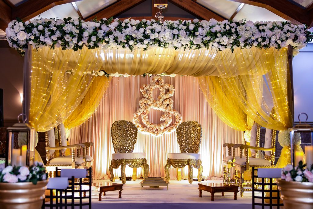 Wedding ceremony chuppah