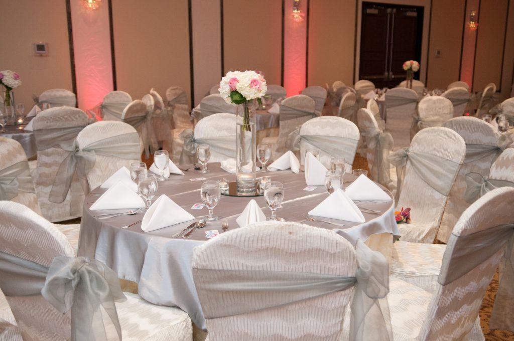 White table wedding reception