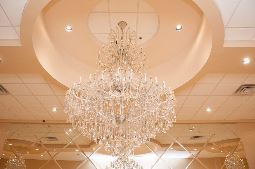 Texas wedding venue chandelier