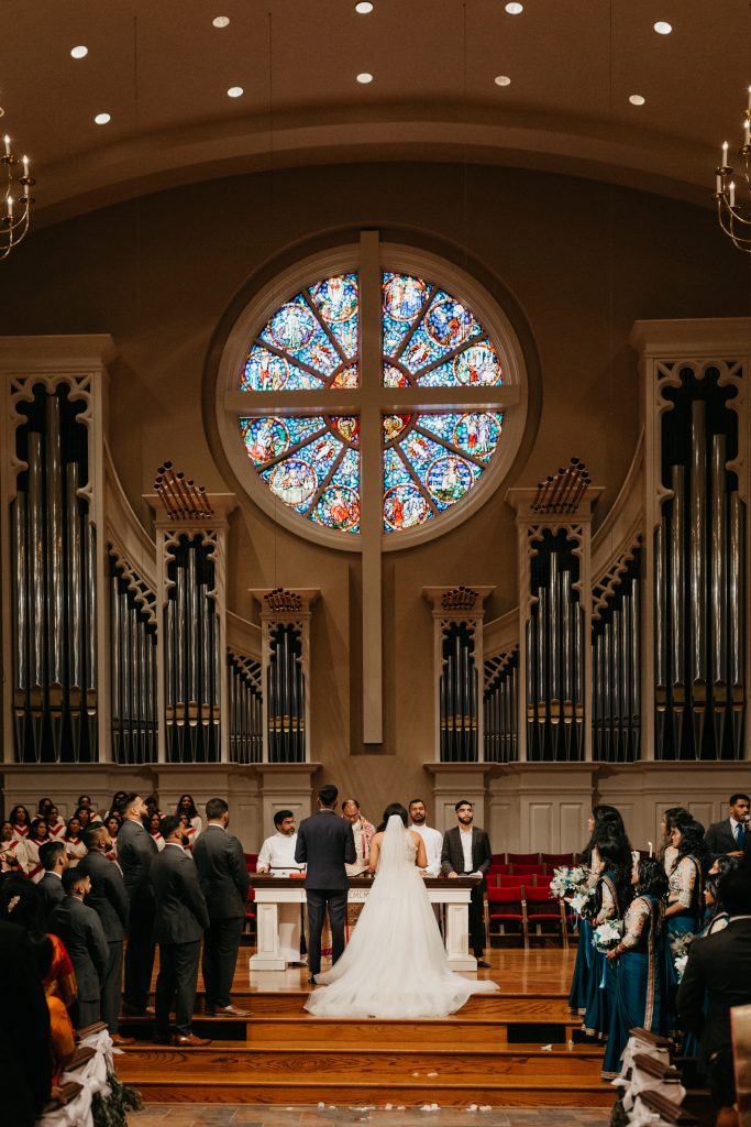 Church wedding with best wedding planners in Texas