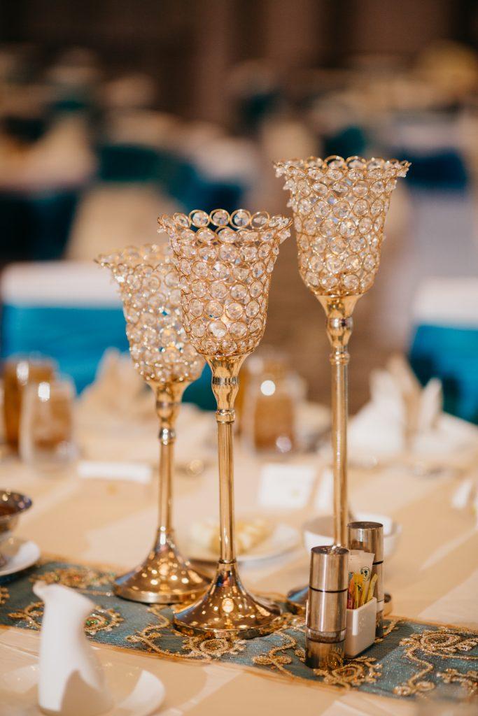 crystal candle sticks for wedding reception decor dallas texas