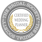 Certified wedding planner by The Bridal Society