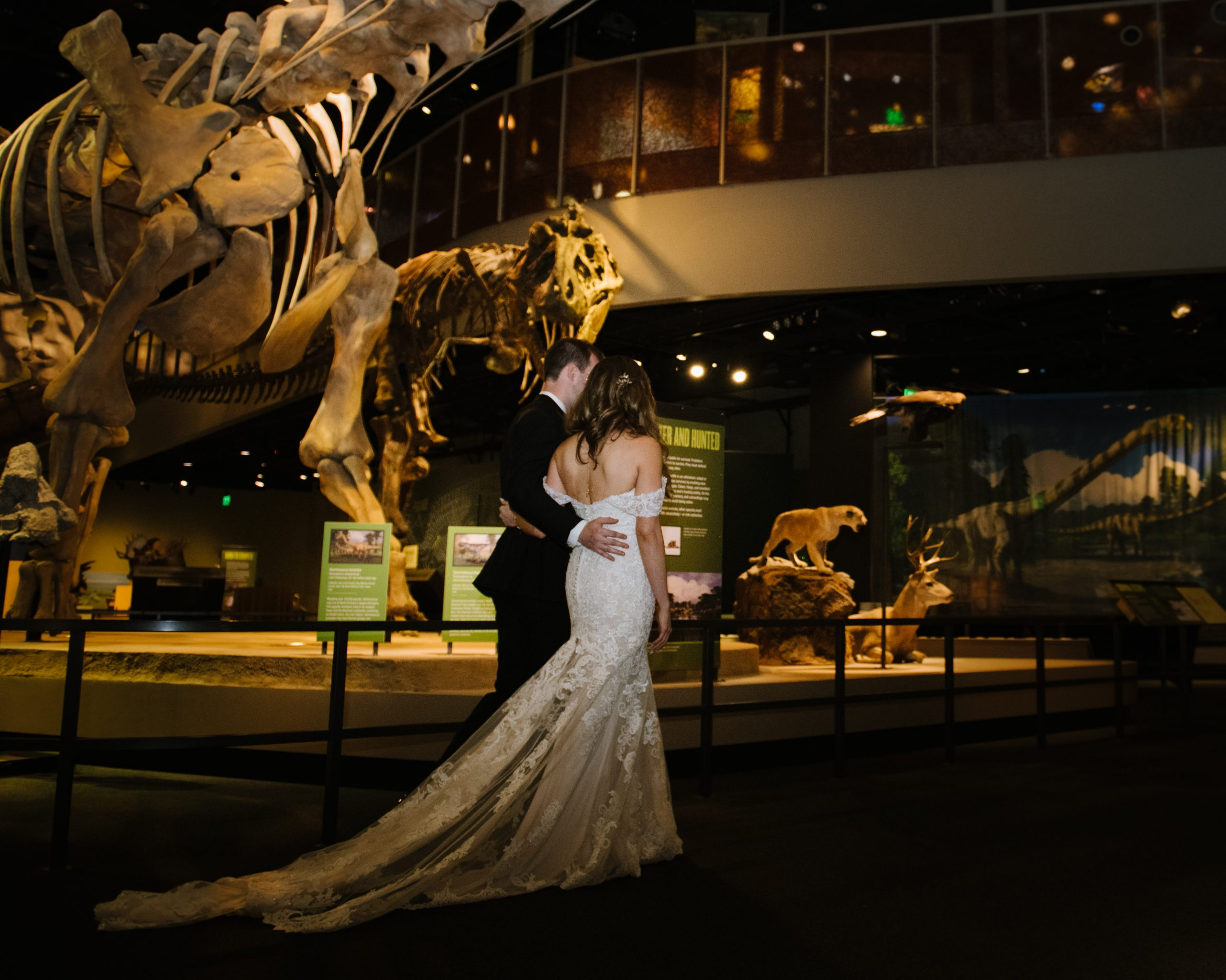 wedding day at the museum