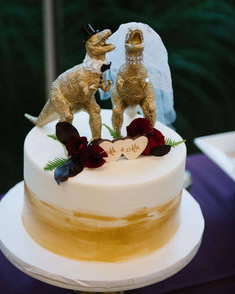 Dinosaur Wedding Cake